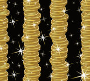 Seamless golden coins background Royalty Free Stock Photo