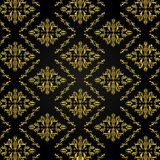 Seamless Golden Damask Pattern Background Royalty Free Stock Photography