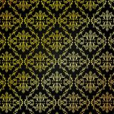 Seamless Golden Damask Pattern Background Stock Images