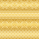 Seamless Golden Floral Borders Royalty Free Stock Photos