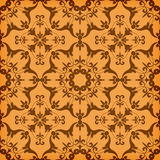 Seamless  Golden Floral  Pattern Stock Images