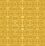 Seamless golden floral wallpaper pattern Stock Photo