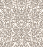 Seamless golden floral wallpaper Royalty Free Stock Images