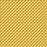 Seamless golden geometric relief texture. Stock Photo