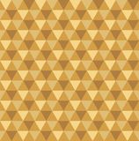 Seamless golden geometric triangle pattern background. Wallpaper stock illustration