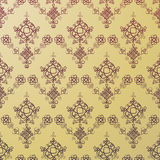 Seamless Golden Hun Pattern Royalty Free Stock Photo