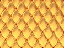 Seamless golden leather upholstery pattern, 3d illustration Royalty Free Stock Images