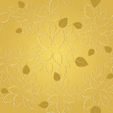 Seamless golden leaves lace wallpaper pattern Royalty Free Stock Photography