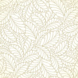Seamless golden leaves wallpaper Royalty Free Stock Images
