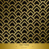 Seamless golden luxury patterns on black background. Vector ill. Ustration Royalty Free Illustration