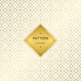 Seamless golden luxury patterns on white background. Vector ill. Ustration Vector Illustration