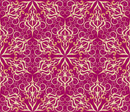 Seamless golden  pattern Royalty Free Stock Photo