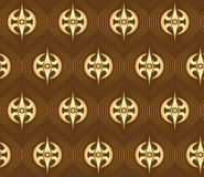 Seamless golden pattern Stock Image