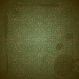Seamless golden pattern on green Royalty Free Stock Image
