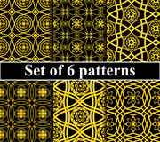 Seamless golden pattern set Royalty Free Stock Photography