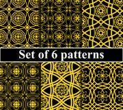 Seamless golden pattern set Royalty Free Stock Photography