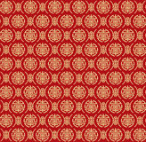 Seamless Golden Pattern of Two Variant of Chinese Symbol called Shou Royalty Free Stock Photography