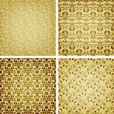 Seamless golden patterns Stock Image