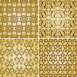 Seamless golden patterns Stock Images