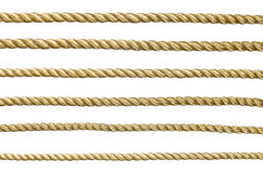Seamless golden rope Stock Photos