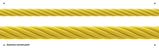 Seamless golden rope shiny gold cable Royalty Free Stock Photo