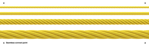 Seamless golden rope shiny gold cable Royalty Free Stock Photos