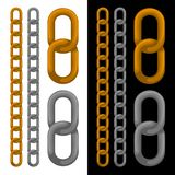 Seamless golden and silver chain. Vector. Stock Images