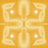 Seamless Golden Spirals Pattern. Visual Volume Effect. Suitable for textile, fabric and packaging. Royalty Free Stock Photography