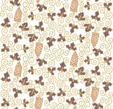 Seamless pattern with grapes Royalty Free Stock Photos