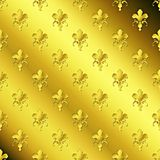 Seamless golden textured pattern Stock Image