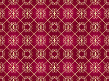 Seamless golden vintage pattern Stock Photos