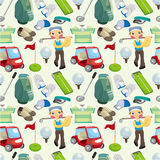 Seamless golf pattern Royalty Free Stock Image