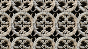 Seamless Gothic architecture pattern detail. Seamless Carved stone circular detail pattern. It can be found on the interior gardens of Batalha Monastery, Also Stock Image