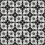 Seamless gothic floral pattern with cross Stock Images