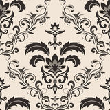 Seamless gothic floral wallpaper Royalty Free Stock Images