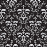 Seamless gothic ornament. Seamless ornamental wallpaper, floral pattern, illustration Royalty Free Stock Photos