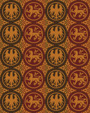 Seamless gothic vector pattern Stock Photography