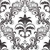 Seamless gothic wallpaper. Seamless ornamental wallpaper, floral pattern, illustration Stock Photography