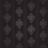 Seamless Gothic wallpaper. Seamless Gothic ornamental wallpaper, floral pattern, illustration Royalty Free Stock Image