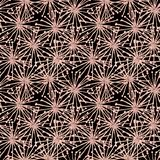 Seamless gouache spiderweb pattern from beige surreal flowers black royalty free illustration