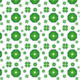 seamless grön modell för blomma royaltyfri illustrationer