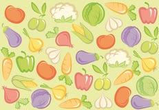 seamless grönsak för bakgrund vektor illustrationer