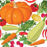 Seamless grönsakbakgrund Arkivfoto
