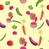 seamless grönsaker för modell Ärtor tomat, gurka royaltyfri illustrationer