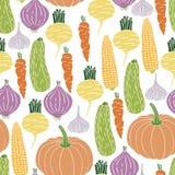 seamless grönsaker för modell Arkivbilder