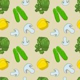 seamless grönsaker för modell vektor illustrationer