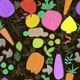 seamless grönsaker för modell Linjärt diagram Ny röd pepparpaprika på trä i tappninginställning Skandinavisk stil Sund matmodell Royaltyfria Bilder
