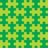 seamless grönt pussel Royaltyfria Bilder