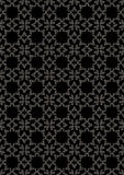Seamless graceful silver floral pattern Stock Photography