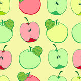 Seamless grades of apples Royalty Free Stock Image